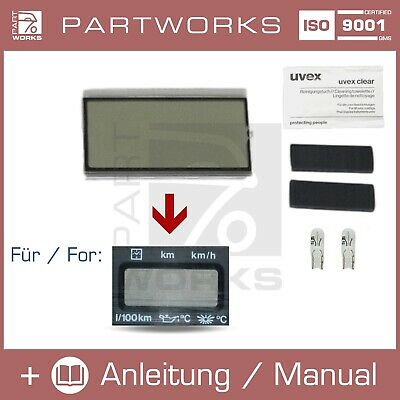 Lcd Reparatur Display Für Vw Golf 1 2/ii Mfa Bordcomputer Tacho/kombiinstrument