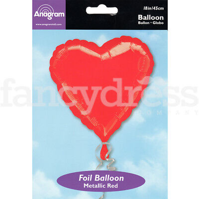 "18"" Foil Balloon Red Heart Valentine Wedding Engagement Air/Helium Fill"