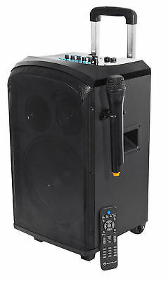 "Rockville ROCKnGo 10""  Rechargable Home Theater Bluetooth Speaker+Wireless Mic"