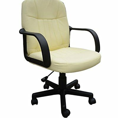Swivel Executive Office Chair Pu Leather Computer Desk Chair Office Furniture- C