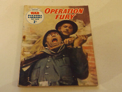 WAR PICTURE LIBRARY NO 46!,dated 1960!,GOOD for age,great 58!YEAR OLD issue.