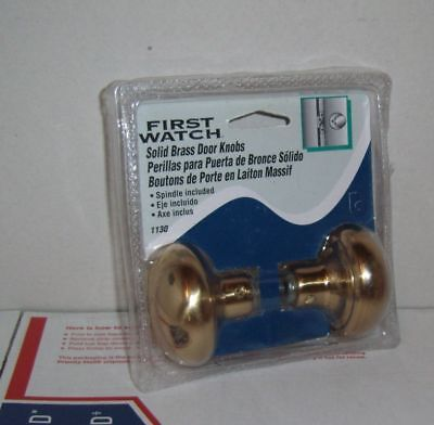 First Watch Solid Brass Door Knobs with Spindle 1130