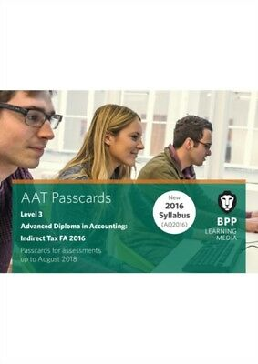 AAT INDIRECT TAX FA2016 2ND EDITION, BPP Learning Media, 97815097...