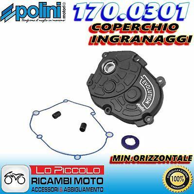 170.0301 Coperchio Ingranaggi Evolution Polini Mbk Flipper 50 - Forte 50