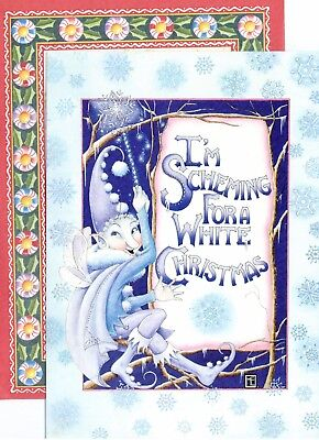 I/'m Scheming For A White Christmas 5 Mary Engelbreit Jack Frost Holiday Cards