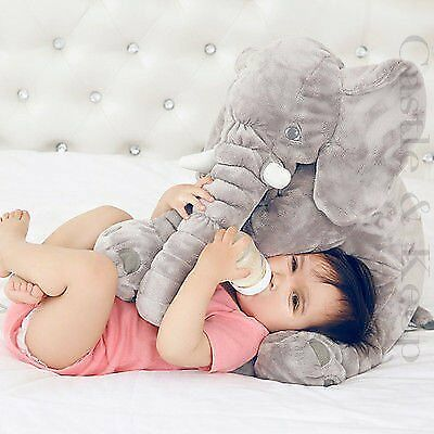 Jumbo Elephant Pillow For Baby/toddler/kids/adults grey - Large Super Soft Stuff