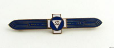 Scottish Rite - Vintage 32nd Degree Masonic Triangle Bar Pin Member Collectible