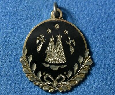Old, Early 20 Century. Antique Silver Christian Pendant Amulet, Excellent work !