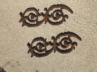 Wrought Iron Decorative Gate Fence Pieces Architectural Salvage Pair