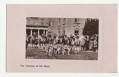 The Morning Of The Hunt Real Photo Postcard A610