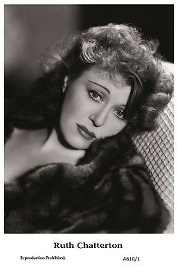 RUTH CHATTERTON actress PIN UP PHOTO postcard A610/1 Film Star 2000 Mint