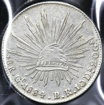 1884Go-BR EIGHT 8 REALES MEXICO
