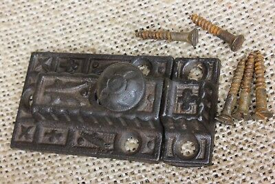 Cabinet catch Cupboard old Latch cast iron knob butterfly rustic vintage 1800's