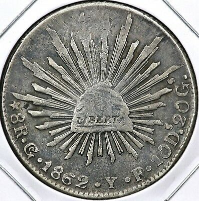 1862Go-YF EIGHT 8 REALES MEXICO