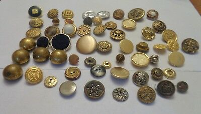 Vintage mixed lot of brass/gold color buttons