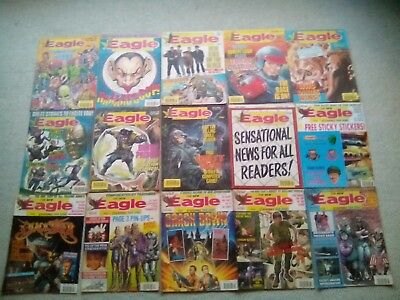 Eagle Comics Job Lot (15 Issues From 1990)  (Starring Dan Dare) Free P&P