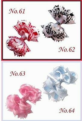 "20 BLESSING Good Girl Boutique 4.5"" Funky Hair Bow Clip 92 Styles"