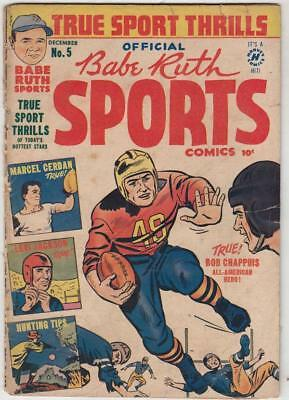 Babe Ruth Sports Comics  # 5  strict  GD content  Levi Jackson early black