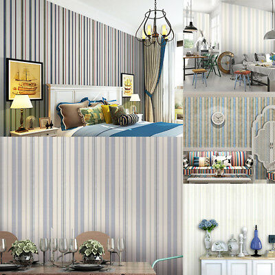 Wall Paper Self-adhesive Natural Color Striped Texture Wall Covering Paper