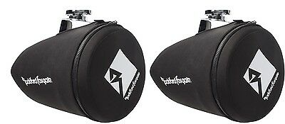 "Pair Rockford Fosgate PM265-SPF Marine Boat 6.5"" Neoprene Wakeboard Tower Covers"