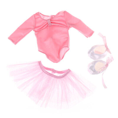 1 set Doll Clothes for 18 Inch American Girl Fashion Pink Ballet dress ATAU