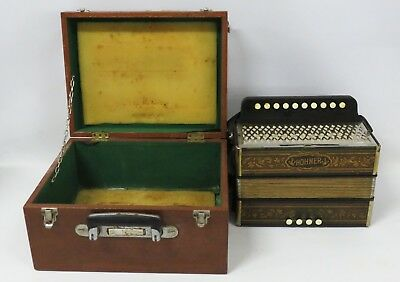 Vintage Hohner Accordion In Hard Case - 94955