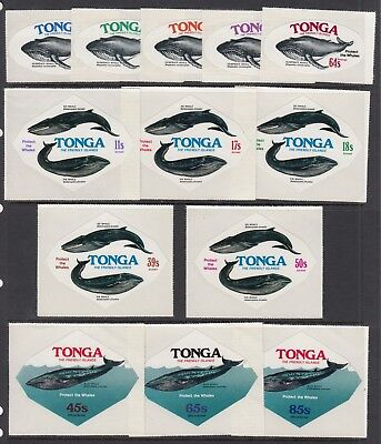 TONGA 1978 WHALE CONSERVATION set of 13 including Officials MNH
