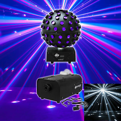 American DJ Starburst Sphere Multi Color Shooting Beam Lighting FX+Fog Machine