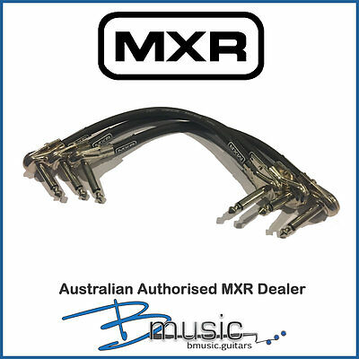NEW 3 x MXR 6 inch Patch Cables - Low profile jacks for closer pedal placement