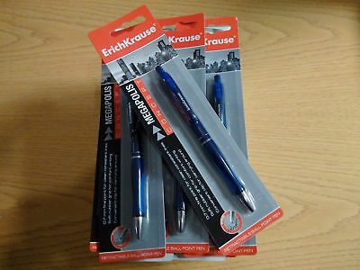 10 x Wholesale Joblot Erichkrause Megapolis Blue Ball Point Pens Stationery