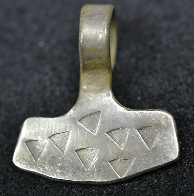 Viking Solid Silver Hammer of Thor Amulet Pendant