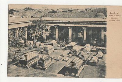 Tombs Of Shah Alums Queens Ahmedabad India Vintage Postcard 0932