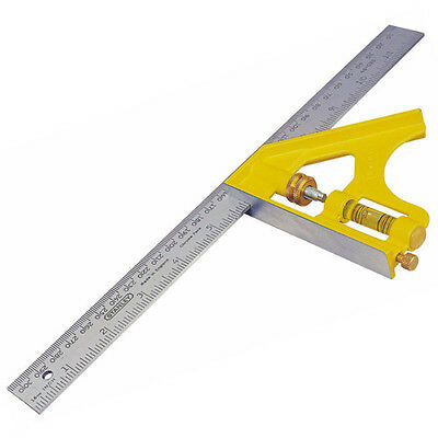 "STANLEY 12"" (305mm) Metal Engineers Combination Cast Square With Scriber 246028"