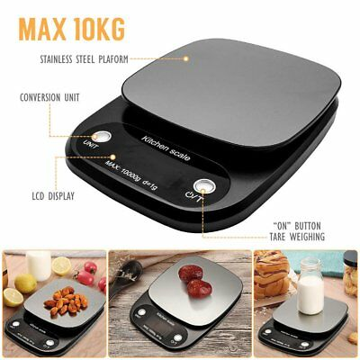 10KG Digital Electronic Glass Kitchen Cooking Food Parcel Postal Weighing Scales