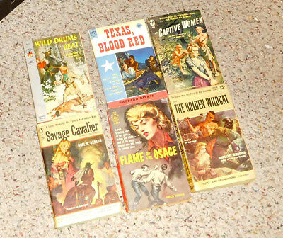 Misc Lot Of Vintage Paperbacks, ~ Savage Cavalier, The Captive Women