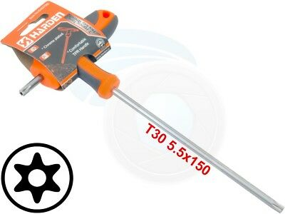 T30 T-Handle Torx Security Pin 6 Point Star Key CRV Screwdriver Wrench