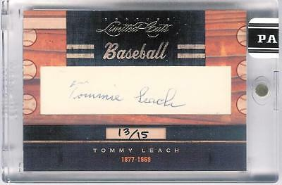 2011 Donruss Limited Cuts Tommy Leach Auto 13/15