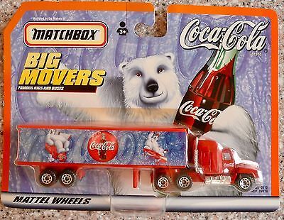 Coca Cola MATCHBOX BIG MOVERS, Truck, Tractor Trailer  New In Package