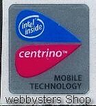 Intel Centrino Mobile Technology Case Sticker Case Badge