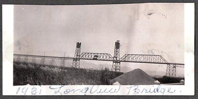 Vintage 1931 Photograph Longview Washington Oregon Bridge Columbia River Photo
