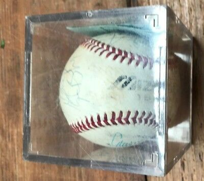 Mizuno Baseball in case - signed