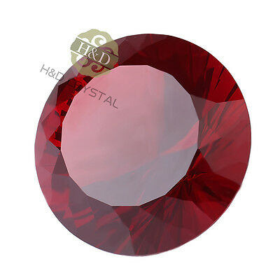 80mm Red Crystal Diamond Paperweight Wedding Decor Party Home Favor Gifts Box