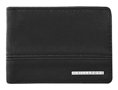 Brand New + Tag Billabong Mens / Boys Dimension Tri-Fold Pvc Wallet Black Surf