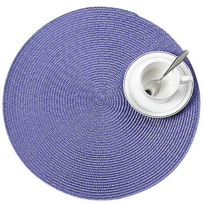 1/4pcs 38cm Round Jacquard Weaved NonSlip Insulation Placemats Dining Table Mats