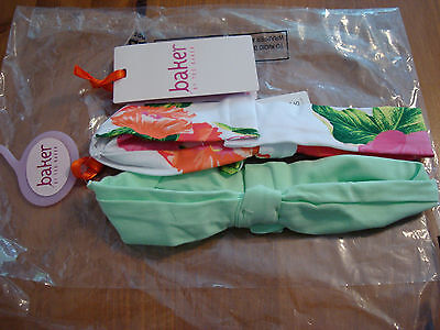BNWT Ted Baker Baby Girls 2 Pack of Head Bands Size 12 - 24 months Floral Design
