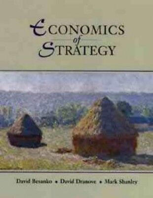 Economics of Strategy by Shanley, Mark Hardback Book The Cheap Fast Free Post