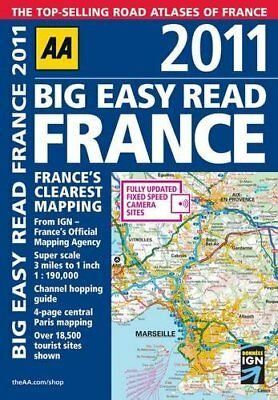 Big Easy Read France 2011 (Road Atlas) by AA Publishing Spiral bound Book The