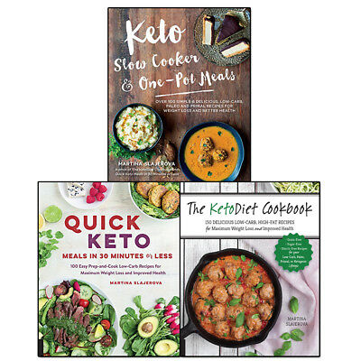 Martina Slajerova Collection 3 Books Set Keto Slow Cooker & One-Pot Meals NEW