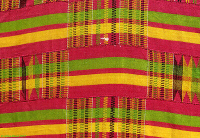 Kente Cloth Handwoven Ghana Textile 10X7 Ft African Art