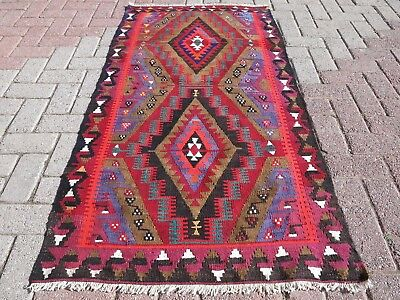 "Vintage Turkish Wool Rug,Antalya Small Kilim 31,8""x62,2""  Arearugs,Kelim,Carpet"